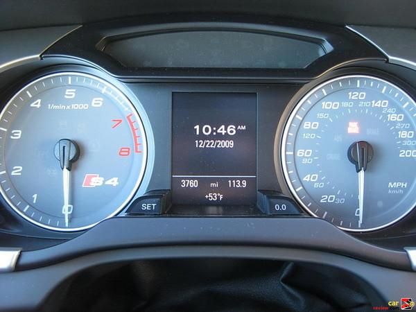 Audi S4 instrument cluster