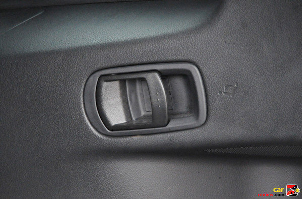 Lever for seat fold-down