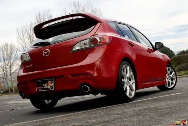 Mazdaspeed3 roof mounted rear wing