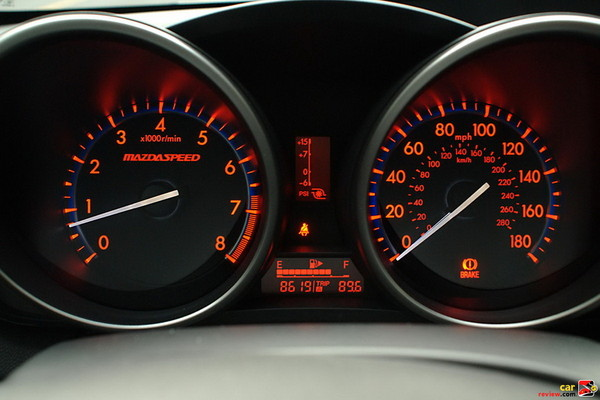 Electroluminescent gauges w/Mazdaspeed illumination