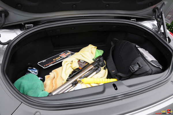 Small-ish trunk fits a carry-on bag and a small bag
