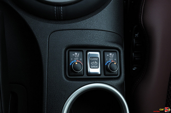 Seat heater AND COOLER controls - sweet!