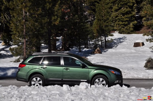 2010 Subaru Outback snowbound for Bear Valley