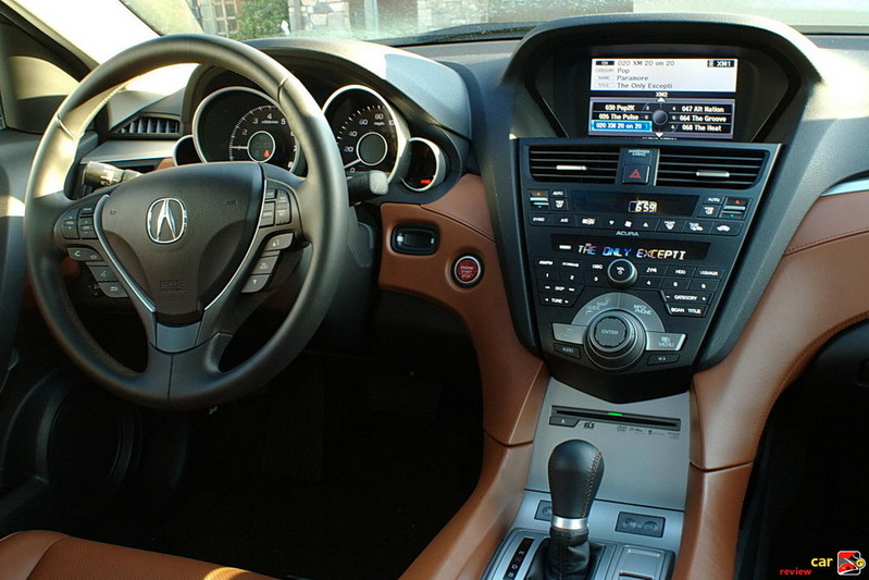 Acura ZDX driver's cockpit