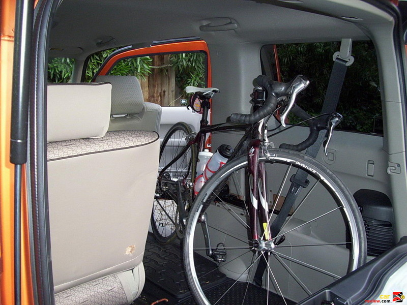 Cargo capacity of the Element is 74 cubic feet