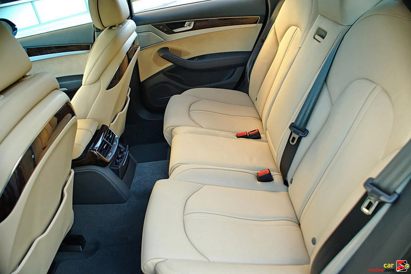 Audi A8 rear seat of normal wheel base model