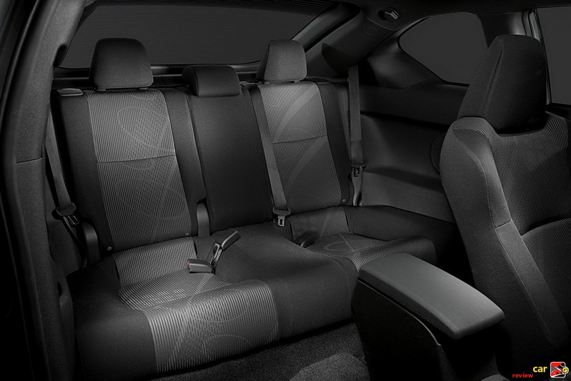 Scion tC rear seating