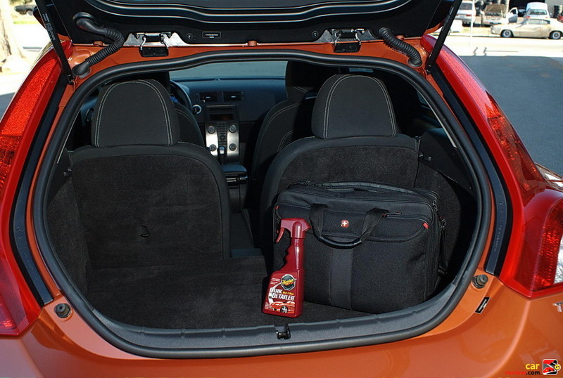 Volvo C30 rear cargo area