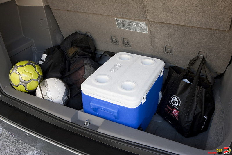 Usable cargo space behind 3rd row seats