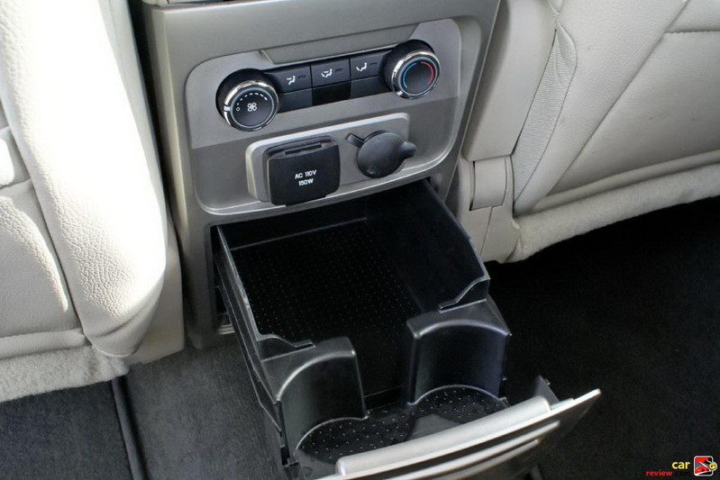 2nd row cupholders and HVAC controls