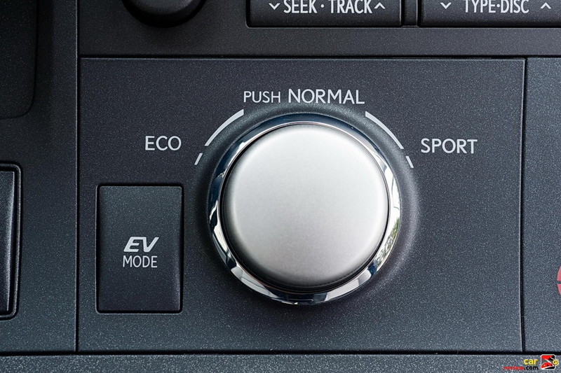 CT 200h driving mode knob