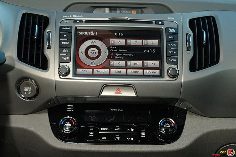AM/FM/CD/MP3/Sirius Audio System