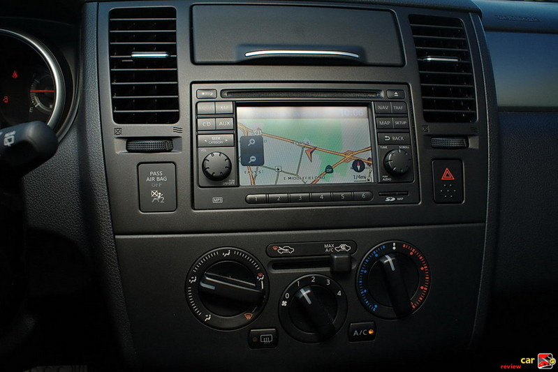 "Nissan Navigation System with 5"" color display"