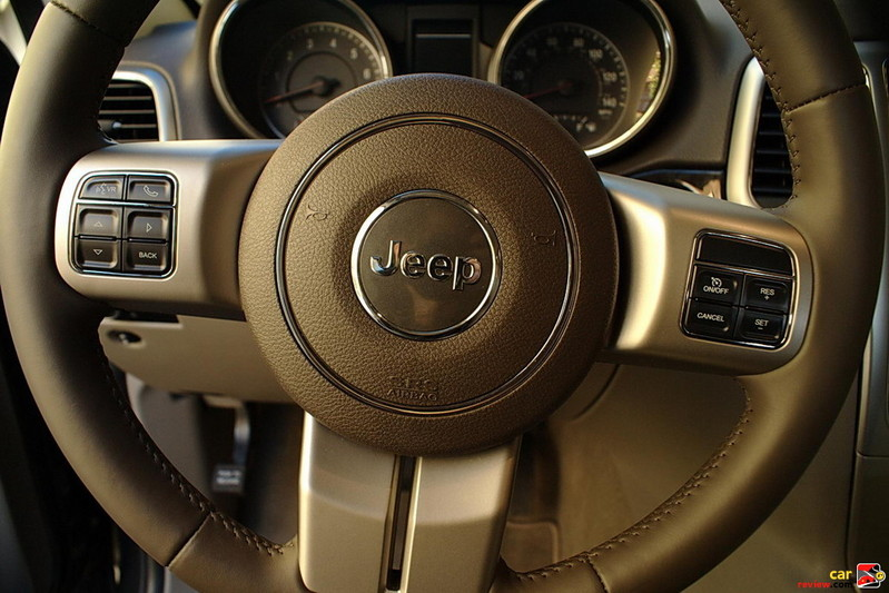 Integrated audio, Bluetooth, and cruise controls on steering wheel