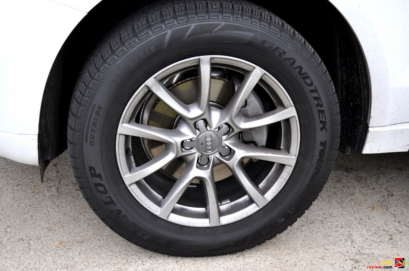 "18"" ten-spoke V design wheels with 235/60 all-season tires"