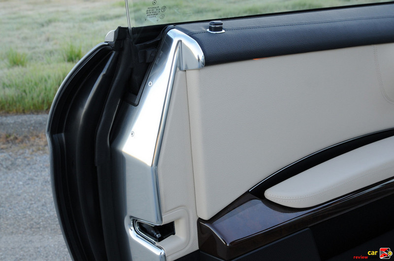 Polished aluminum door jamb trim - every detail executed with purpose