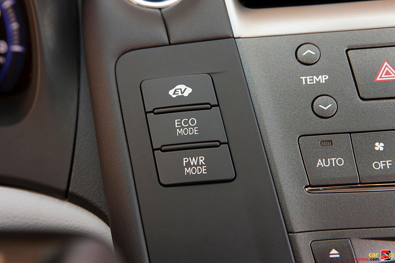 Choose between ECO, Power and EV modes