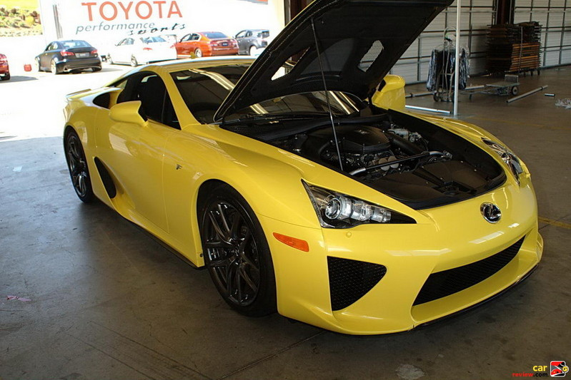 Mid front-engine LFA has a top speed of 202 mph