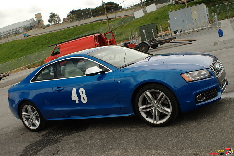 The Audi S5 turns some laps at Mazda Raceway Laguna Seca