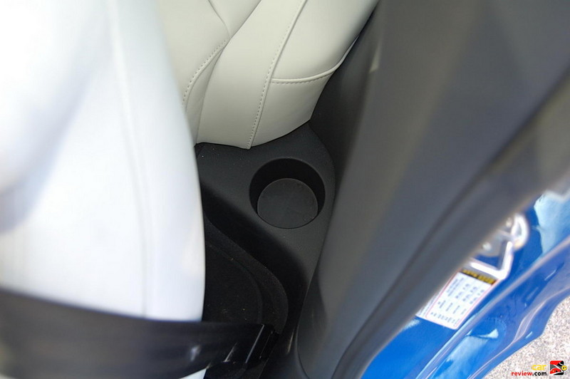 Silly place for a cupholder