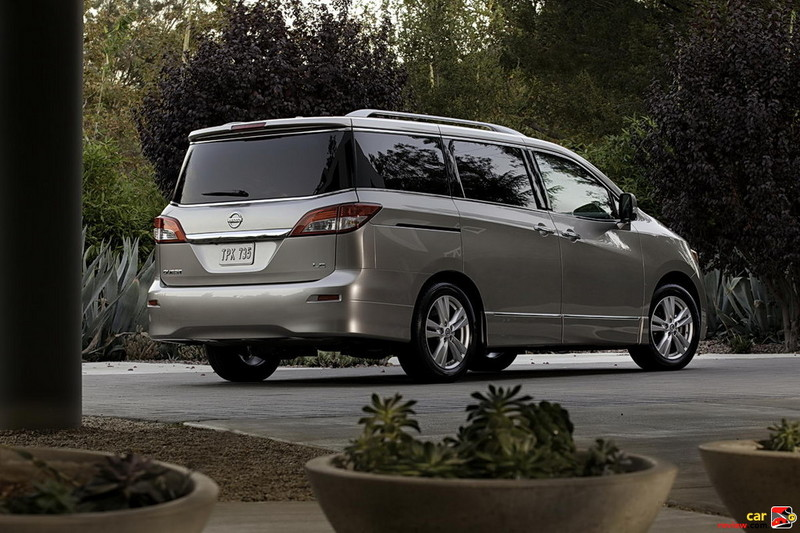 2011 Nissan Quest - rear wraparound glass