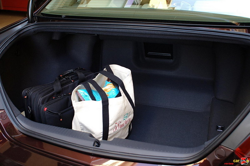 carpeted trunk provides 13.1 cubic feet of storage space