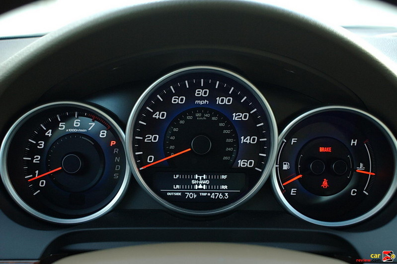 Acura RL instrument cluster