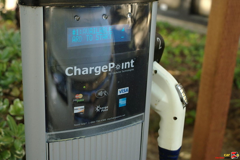 ChargePoint station can full charge the Volt in 3 hours